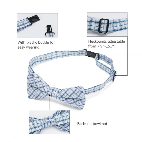 Segarty Bow Ties for Dogs, 30 Pcs Adjustable Dog Collar with Bow, Dog Bow Tie Collar for Small Medium Large Girl Pet Dogs Cats Christmas, Bulk Red White Purple Black Plaid Neck Bowties