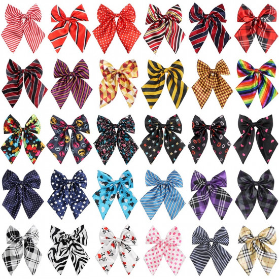 Segarty Pet Bow Ties, 30 Pack Adjustable Bowties Collar for Medium Large Dogs, Dog Bowknot Neckties Costumes Grooming Accessories for Daily Wearing Birthday Holiday Festival Party Gifts