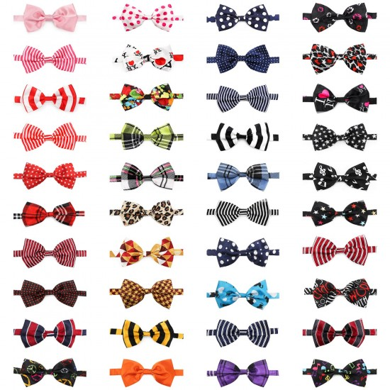 Dog Bow Ties, 40 PCS Segarty Pet Neck Bows, Bulk Pet Bowties with Adjustable Collar, Grooming Bowknot for Christmas Birthday Holiday Valentine Party Dog Photography Accessories Gift for Puppy Dogs Cat…