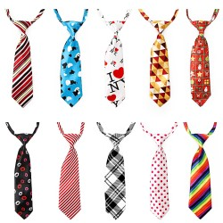 Dog Neckties, 10PCS Segarty Baby Toddlers Ties Medium Dog Bow Ties Collar, Adjustable Pet Cat Dog Neckties for Holiday Festival Dog Collar Dog Grooming Accessories