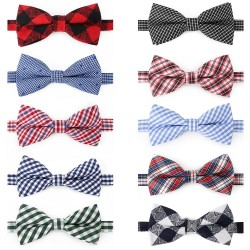 Segarty Dog Bow Tie, 10 PCS Bowties Dog Collar Bulk Holiday Cat Collar Grooming Bows for Pet Puppy Photography Festival Party Neck Wear Gift, Cute and Plaid Patterned