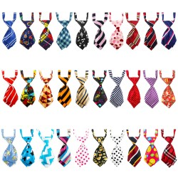 Dog Ties, 30PCS Segarty Small Cat Dog Bow Tie Collar, Adjustable Pet Neckties for Holiday Festival Dog Collar Dog Grooming Accessories