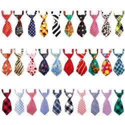 Dog Bow Tie for Small Dogs, 30PCS Segarty Bowties Dog Collar Adjustable, Bulk Floral Neck Ties for Puppy Pets Cats, Neckties Grooming Ties for Boy Dogs Christmas Wedding Holiday Graduation Photography