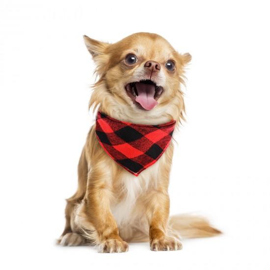 Dog Bandana, 8PCS Segarty Dog Scarves, Dog Kerchiefs, Plaid Triangle Cloth Bandanas for Small Medium Girl Boy Female Male Puppies Dogs Cats, Adjustable Pet Scarf Assorted Summer Fall Handkerchiefs Bib