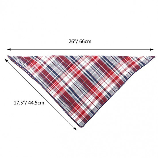 Segarty Dog Bandanas, 4PCS Triangle Bibs Reversible Plaid Printing Dog Kerchief Set, Scarfs Accessories for Small to Large Dogs Cats Pets