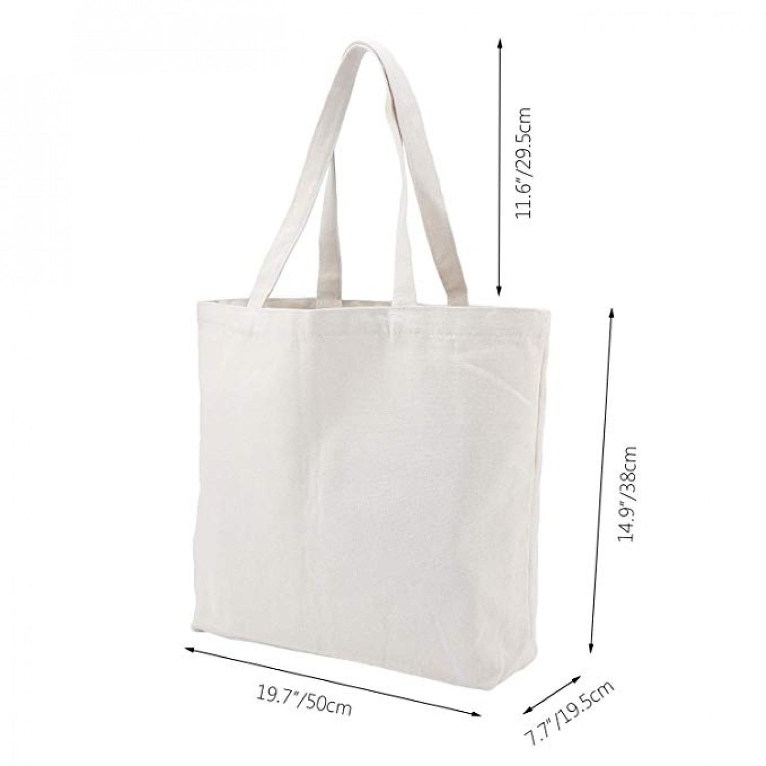 ab4d89696b3 ... Natural Reusable Grocery Bags, 6 Pack Segarty Large Shopping Canvas Bags  with Bottom Gusset, ...